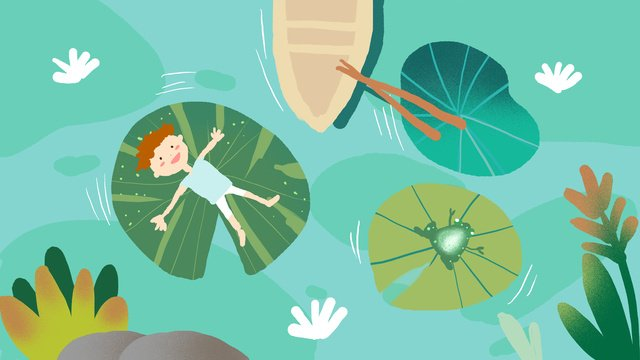 Summer small fresh illustration, Summer, Festival, Solar Terms illustration image
