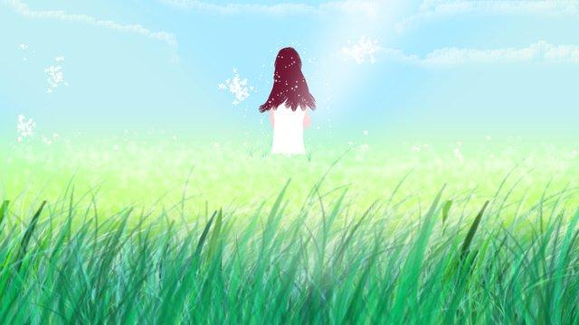 original illustration summer with girl llustration image illustration image