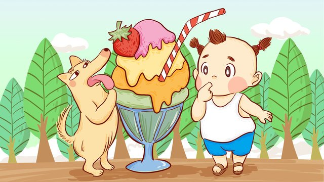 Summer ice cream popsicle hand-painted original illustration, Summer, Ice Cream, Popsicle illustration image