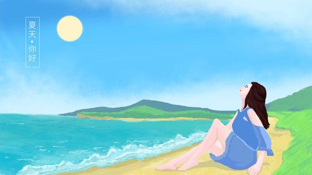 bãi biển nghỉ hè Hình minh họa