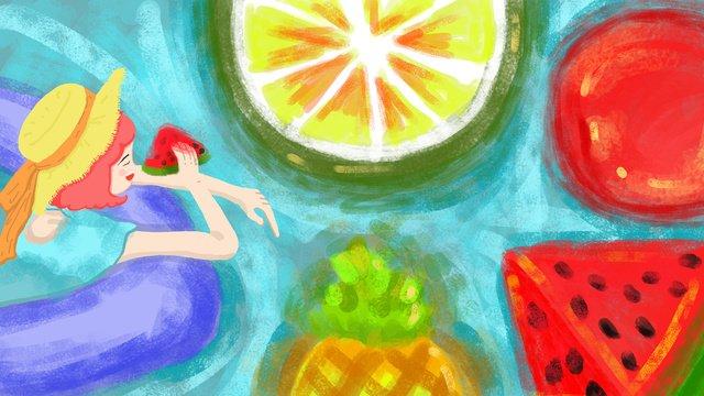 icy summer llustration image illustration image