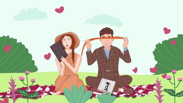 Romantic tanabata couple outing, Tanabata, Happy, 77 illustration image