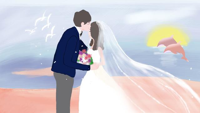 Casal romântico à beira mar tanabata tirando fotos de casamentoTanabata  Dia  Dos PNG E PSD illustration image