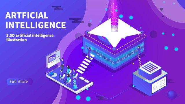 Technology future Technology future artificial intelligence, Artificial, Intelligent, Ladder illustration image