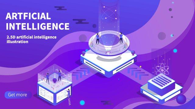 Technology future Technology future artificial intelligence, Artificial, Intelligent, Console illustration image