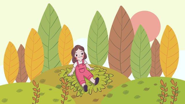 24結び目、秋、手描きのオリジナルイラスト イラストレーション画像 イラスト画像