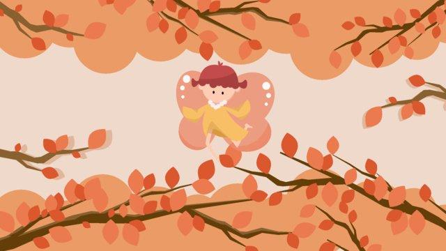二十四節氣白露之秋意漸濃矢量插畫 插畫素材 插畫圖片