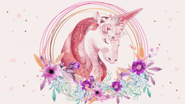 original painting a unicorn gentle and graceful bow llustration image