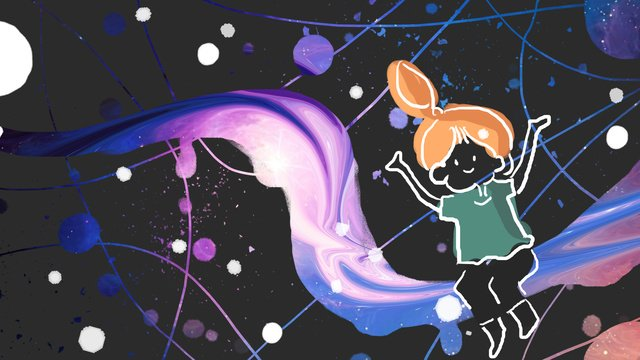 Cosmic streamer sitting on the galaxy llustration image illustration image