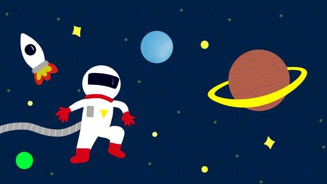 宇宙飛行士は宇宙の謎を探る イラスト素材
