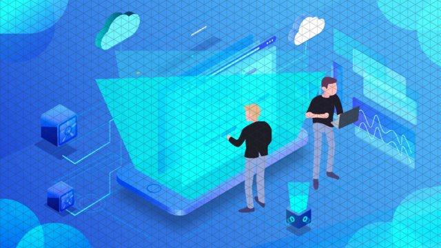 Gradient artificial intelligence technology illustration, Vector, Artificial Intelligence, Technology illustration image