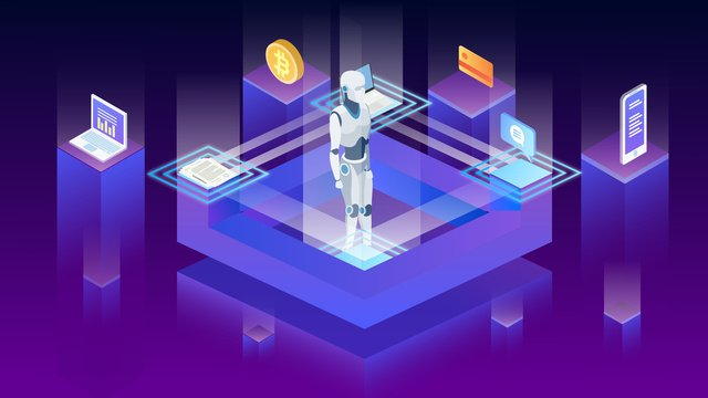 Gradient artificial intelligence technology illustration, Vector, Technology, Gradient illustration image