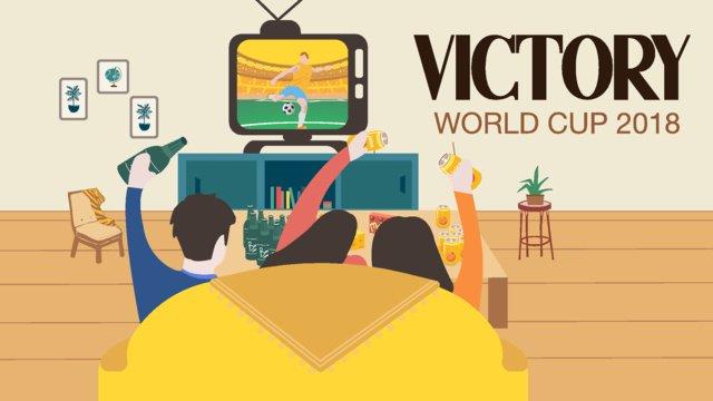 bóng đá world cup phòng khách xem cảnh minh họa Hình minh họa