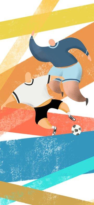 オリジナルワールドカップサマーパッションフットボールの図 イラストレーション画像
