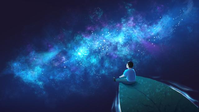 original illustration cures the vast sea of stars llustration image