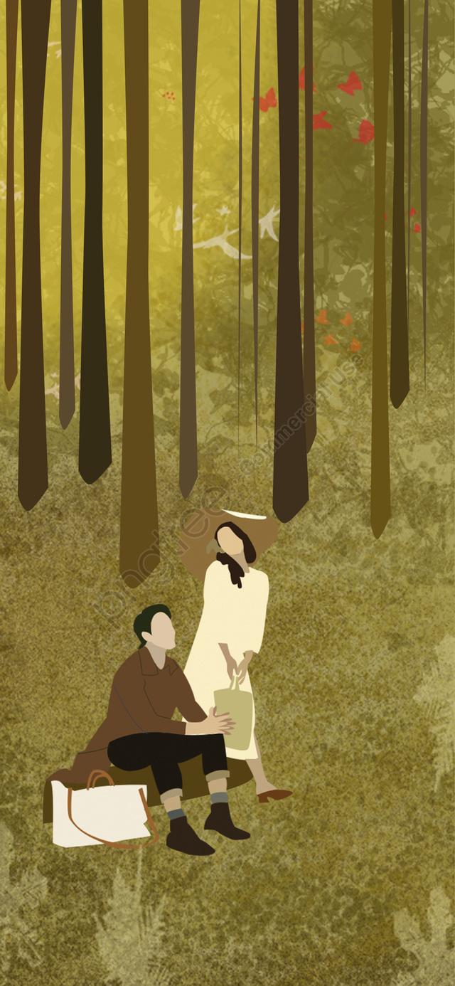 夕日の秋, 夕日の秋, あき, 夕焼け llustration image