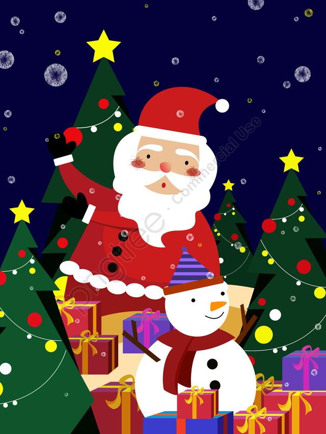 عيد الميلاد سانتا كلوز مع ثلج, عيد الميلاد, ثلج, بابا نويل llustration image