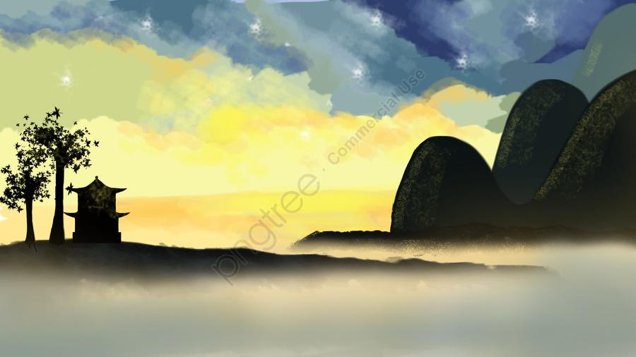 手描き落書き   おはよう 治療法の図, 手描き, イラスト, レトロ llustration image