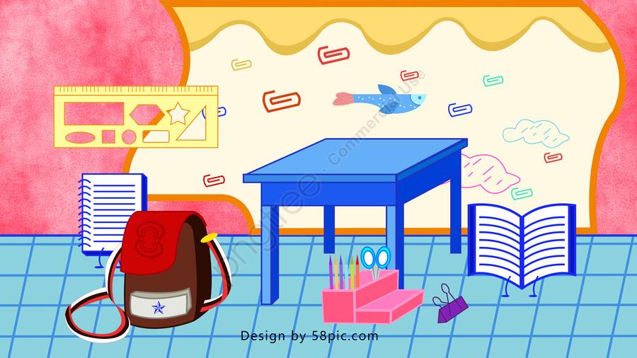 Hello September School Season Vector Illustration, Hello September, School Season, Stationery llustration image