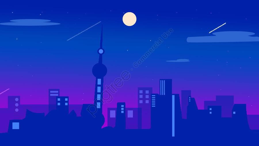 Impression Of The City Shanghai Original Illustration, Impression, Shanghai, City llustration image