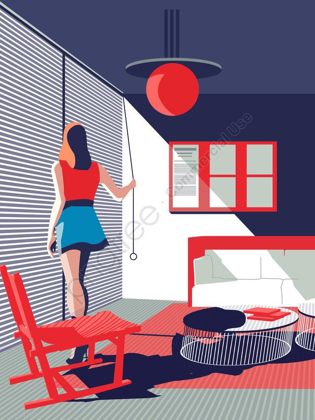 मध्यकालीन आधुनिकतावाद कार्यालय बैठक कक्ष चित्रण, मध्यकालीन आधुनिकतावाद, दफ्तर, लिविंग रूम llustration image