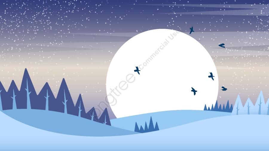 Moon cartoon vector illustration, Moon, Starry Sky, Blue llustration image