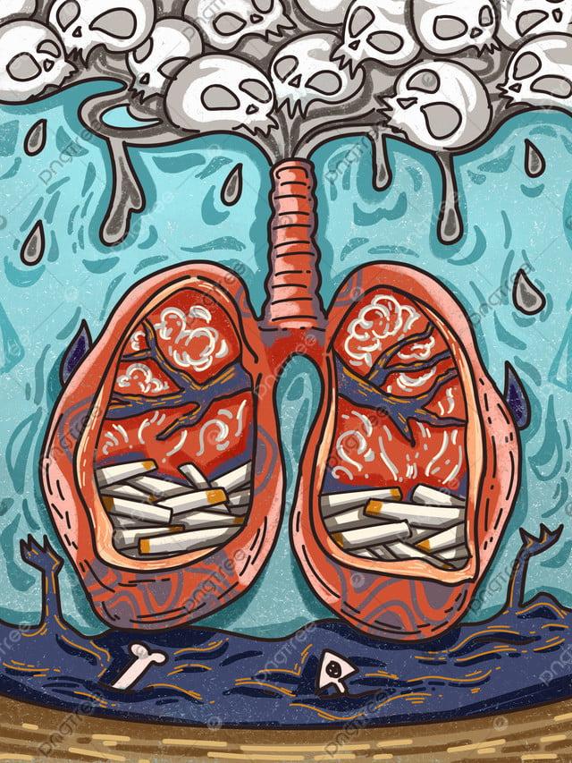 Fumar é Prejudicial à Saúde Expectoração Pulmões órgãos Derrames Manuscritos, Fumar, Saúde, Nocivo llustration image