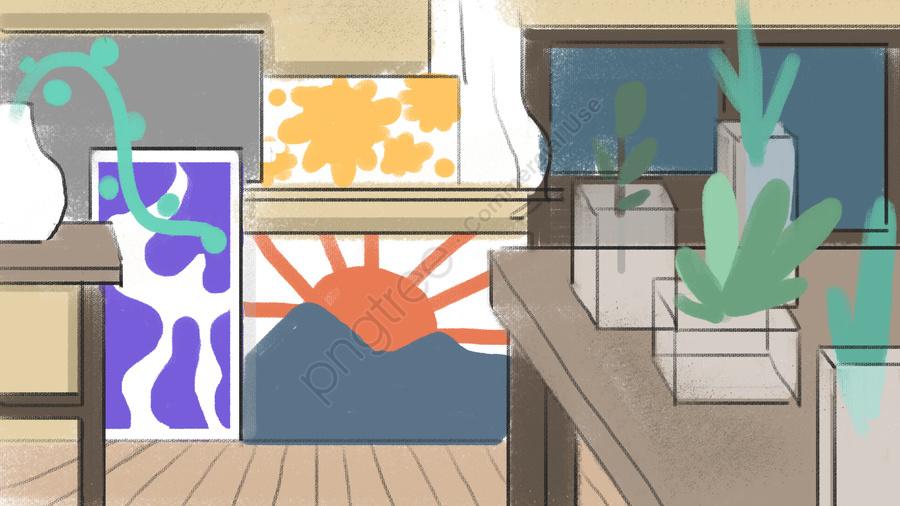スタジオグリーングラスグラスジャー, スタジオ, 絵画, 草 llustration image