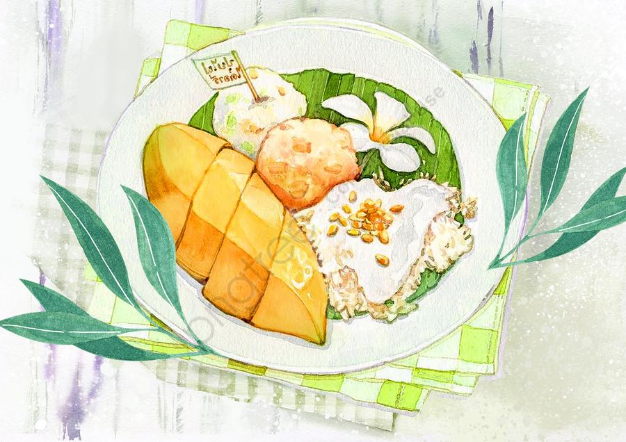 夏日田園美食, 丸子, 夏日, 松子 llustration image
