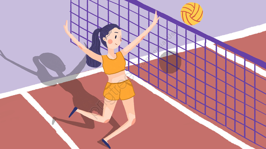 Girl Play Volleyball Free Clipart | Free Microsoft Clipart |Volleyball Game Clipart