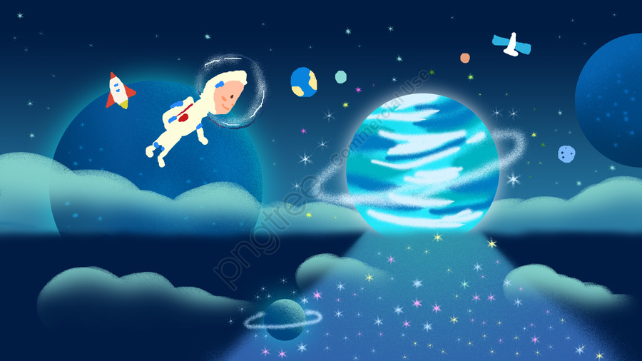 Cosmic technology future illustration, Universe, Planet, Future llustration image