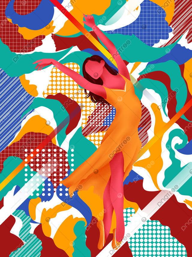 さまよう夢踊る少女美しいイラスト, さまよう夢, 踊る, 少女 llustration image