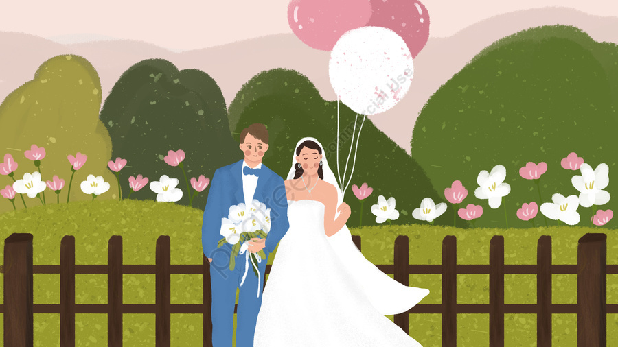 Wedding Balloon Holding Bouquet Bride And Groom Outdoor Small
