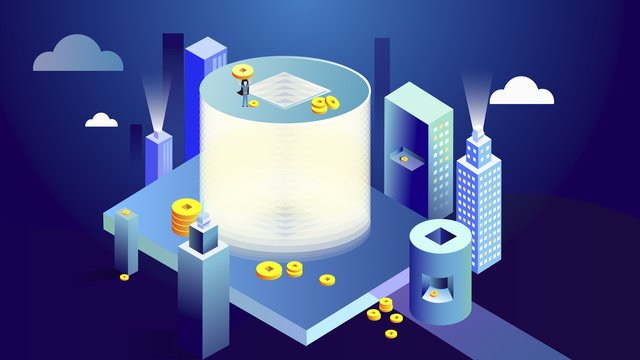 2 5d градиентная технология gold coin city Ресурсы иллюстрации