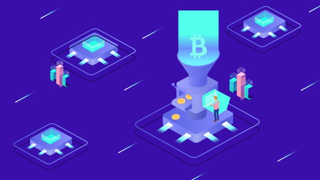 2 5d internet financial blockchain electronic intelligence technology illustration llustration image