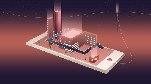 world science and technology life intelligence times poster on 2 5d mobile phone llustration image illustration image