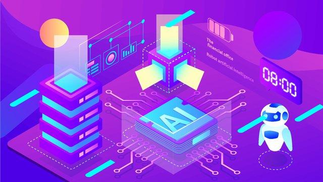 2 5d प्रौद्योगिकी कृत्रिम बुद्धिमत्ता चिप भविष्य के डेटा ग्रेडिएंट चित्रण चित्रण छवि