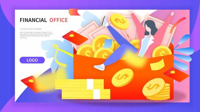 Финансовый менеджмент красный конверт золотая монета выигрыш благосостояния наличными всплывающих градиент иллюстрации Ресурсы иллюстрации