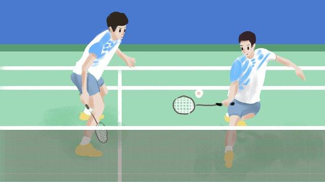 Trò chơi cầu lông châu Á minh họaĐại  Hội  Thể PNG Và PSD illustration image