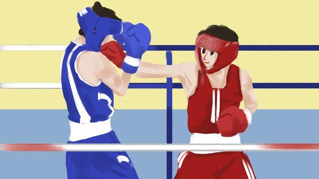 Trò chơi châu Á boxing minh họaĐại  Hội  Thể PNG Và PSD illustration image