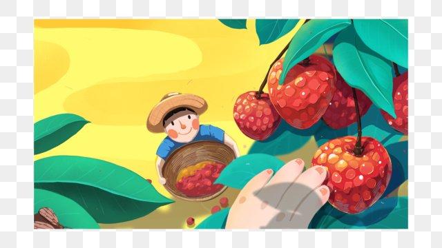 秋分の日に手で秋の豊作の実を描く イラスト素材