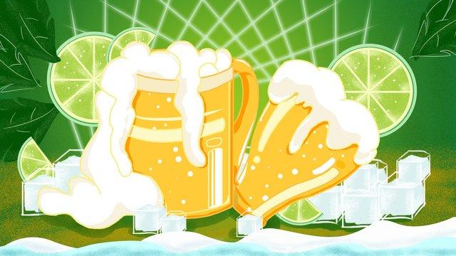 Original vector drink one summer beer festival illustration llustration image illustration image