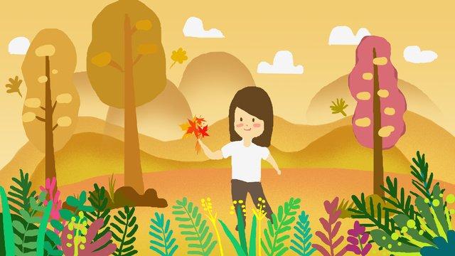 立秋二十四節氣插畫 插畫素材 插畫圖片