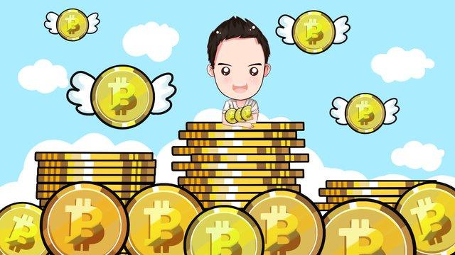 금융 비트 코인 이륙을위한 bitcoin 삽화 소재 삽화 이미지