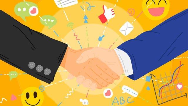 ビジネス交渉スーツ握手シンプルなイラスト イラスト素材