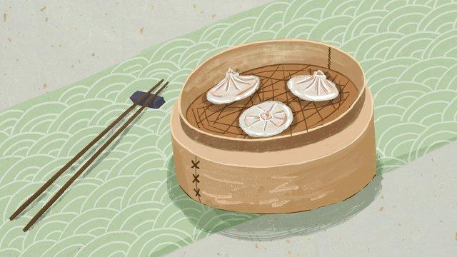 Xian food   soup llustration image illustration image