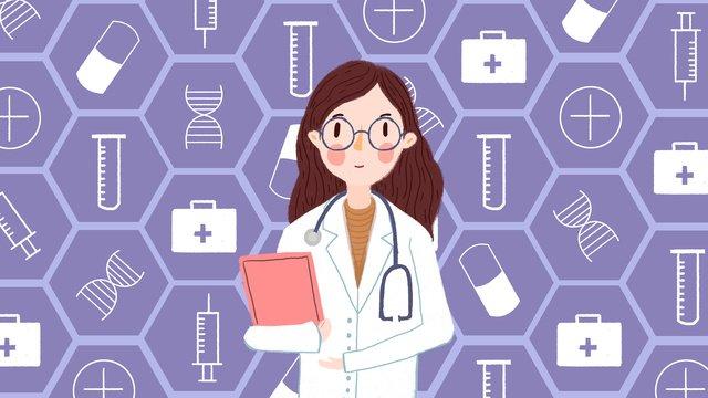 中国医師の日医師訪問 イラスト素材 イラスト画像