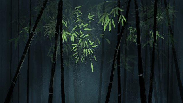 chinese style original bamboo green illustration background with map llustration image illustration image