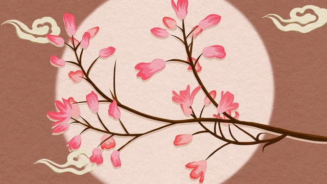 Chinese style still life plant flower hand drawn poster illustration wallpaper, Chinese Style, Hand Painted, Poster illustration image