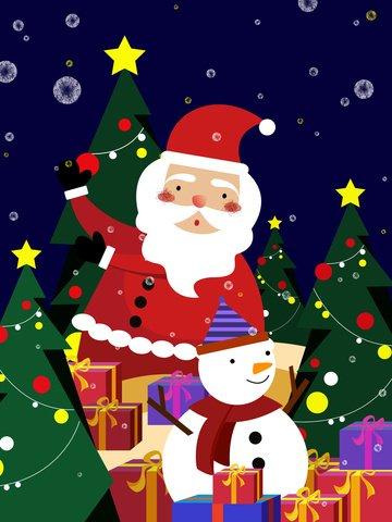 giáng sinh santa claus với người tuyết Hình minh họa